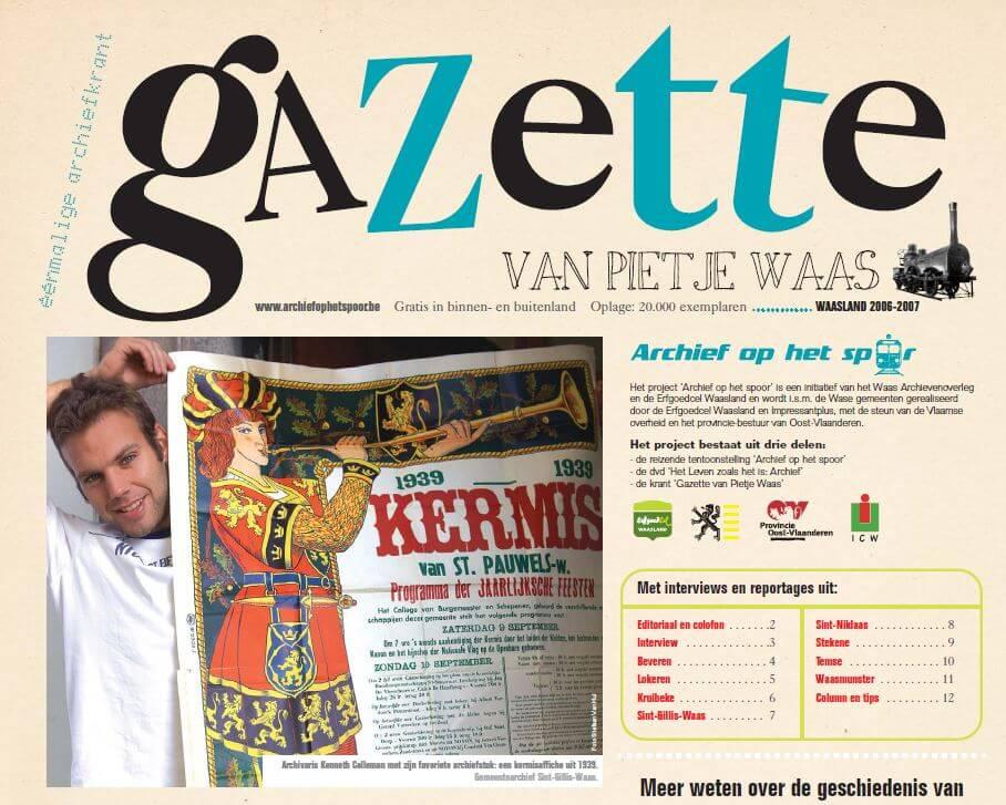 Archief op het spoor - Gazette van Pietje Waas
